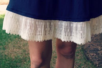 A genius way to lengthen a too-short skirt