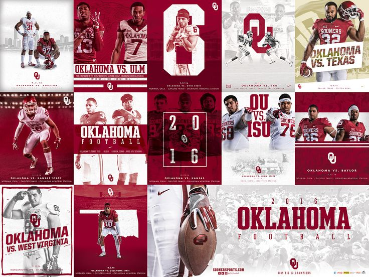 2016 Oklahoma Football Schedule Poster on Behance