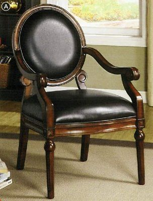 Antique Tobacco Oak Finish Accent Chair