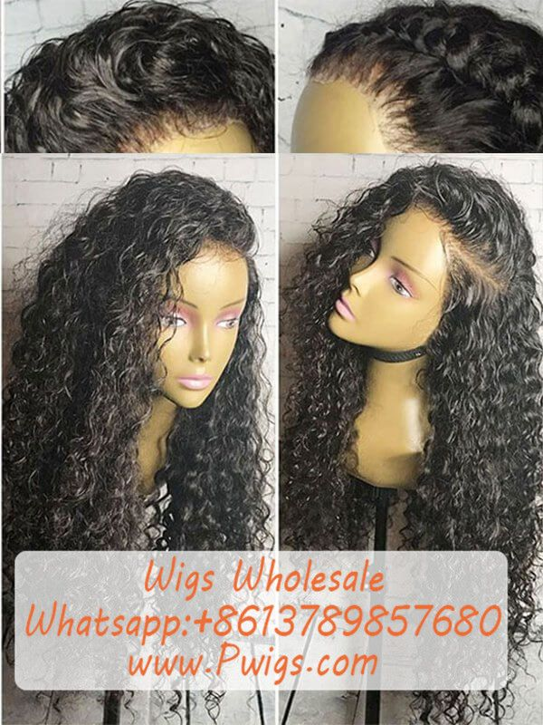 Full Lace Wigs For Black Women 100% Human Hair Wig Water Wave Pre-Plucked Natural  Hair Line in 2019  334490568