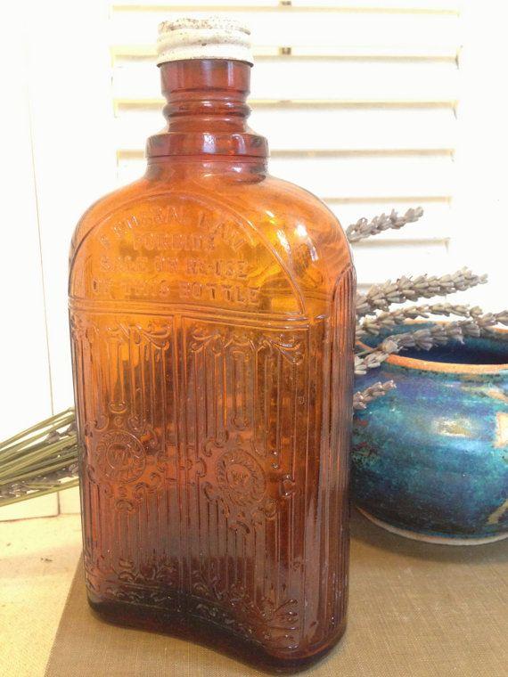 Oz Glass Whisky Bottle