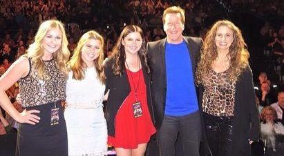 With Jeff's daughters Bree, Kenna & Ashlyn in Las Vegas