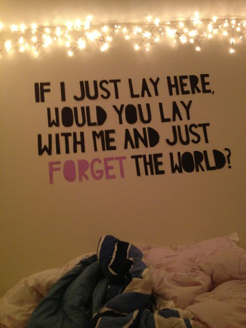 quotes for the bedroom   quote chasing cars snow patrol bedroom wall wall quote forget the ...