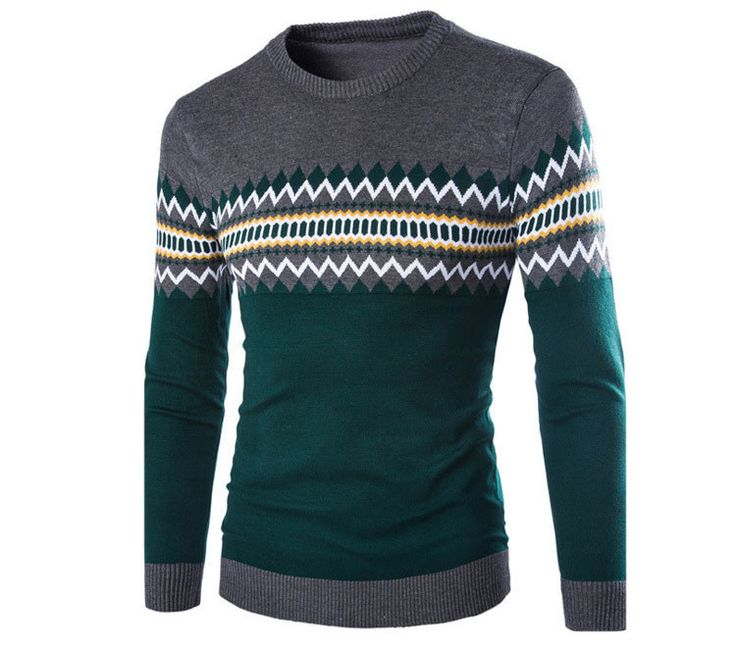 Men's Diamond Print Sweater