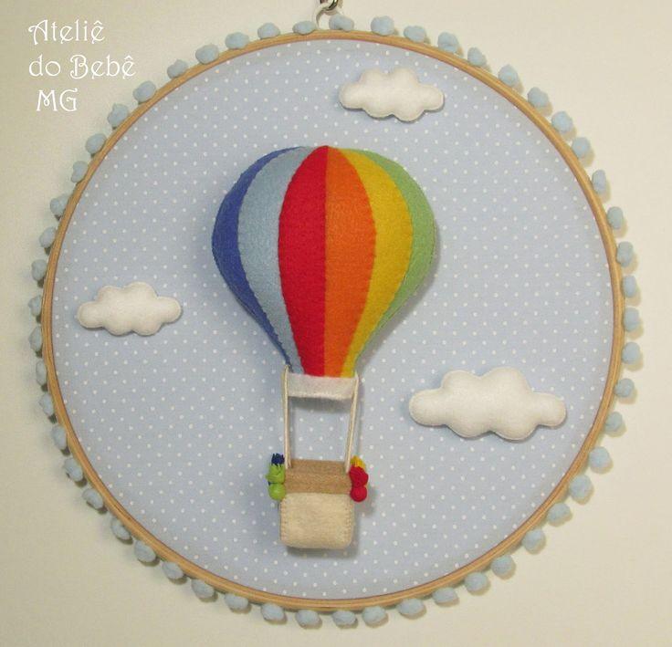 Ateliê do Bebê MG: Quadro Bastidor Balão ( Valentina )