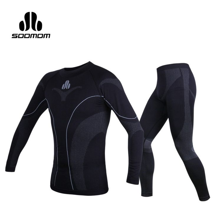SOOMOM Mens Sport Thermal Underwear Sets Warm Compression Quick-dry Ski Hiking Cycling Base Layers Fleece Pants Bicycle Clothing. Click visit to buy