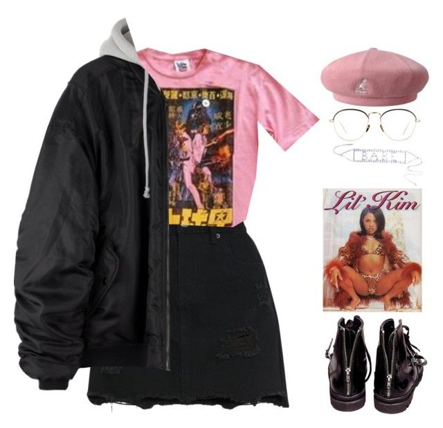 """Blossom"" by mikaylaperrine ❤ liked on Polyvore featuring kangol, Junk Food Clothing, Linda Farrow and Helmut Lang"