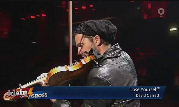 """David Garrett """"Lose yourself"""" @ ARD tv show """"Klein gegen Groß"""" (2-1-2016)"""