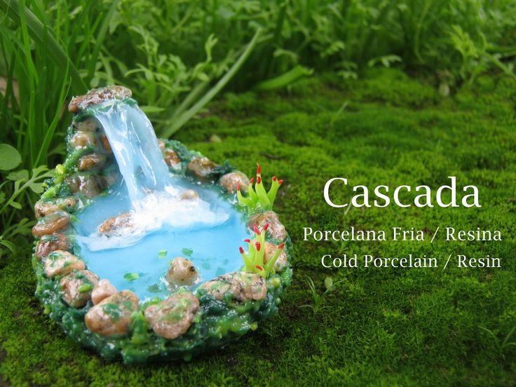 Cascada en Porcelana Fria / Resina - Cold Porcelain / Resin
