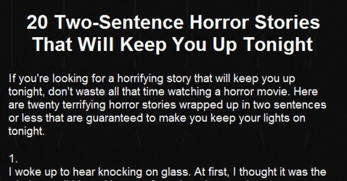 68 best books i like or want to read images on pinterest book 20 terrifying two sentence horror stories that will keep you up at night fandeluxe Gallery