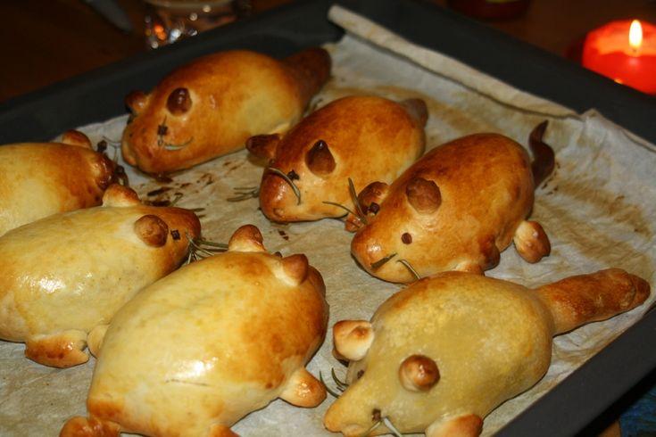 rats de Halloween aux légumes et à la viande