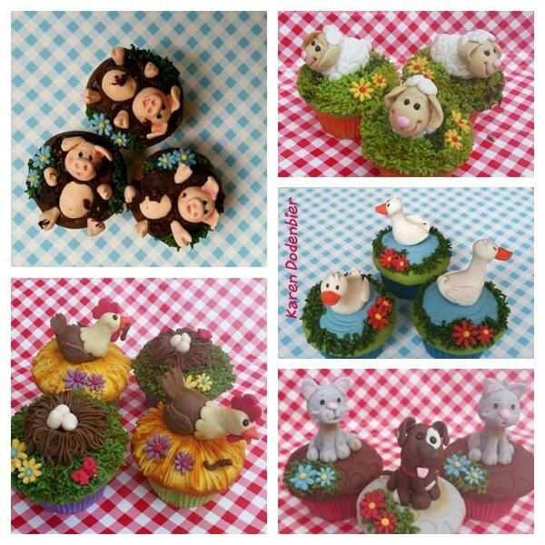 My Farm Animal Cupcakes by Karen Dodenbier
