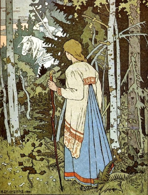 Ivan Bilibin- Vassilisa the Beautiful