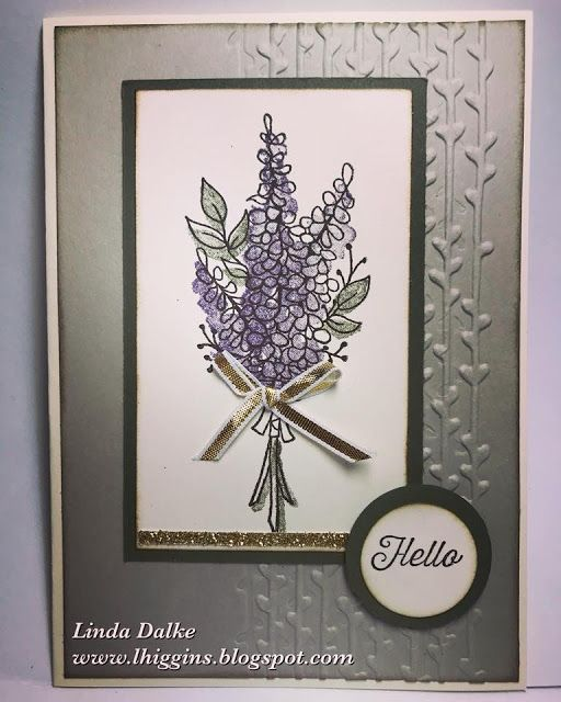 Another SAB Sneak Peek: Lots of Lavender to create a soft and pretty card