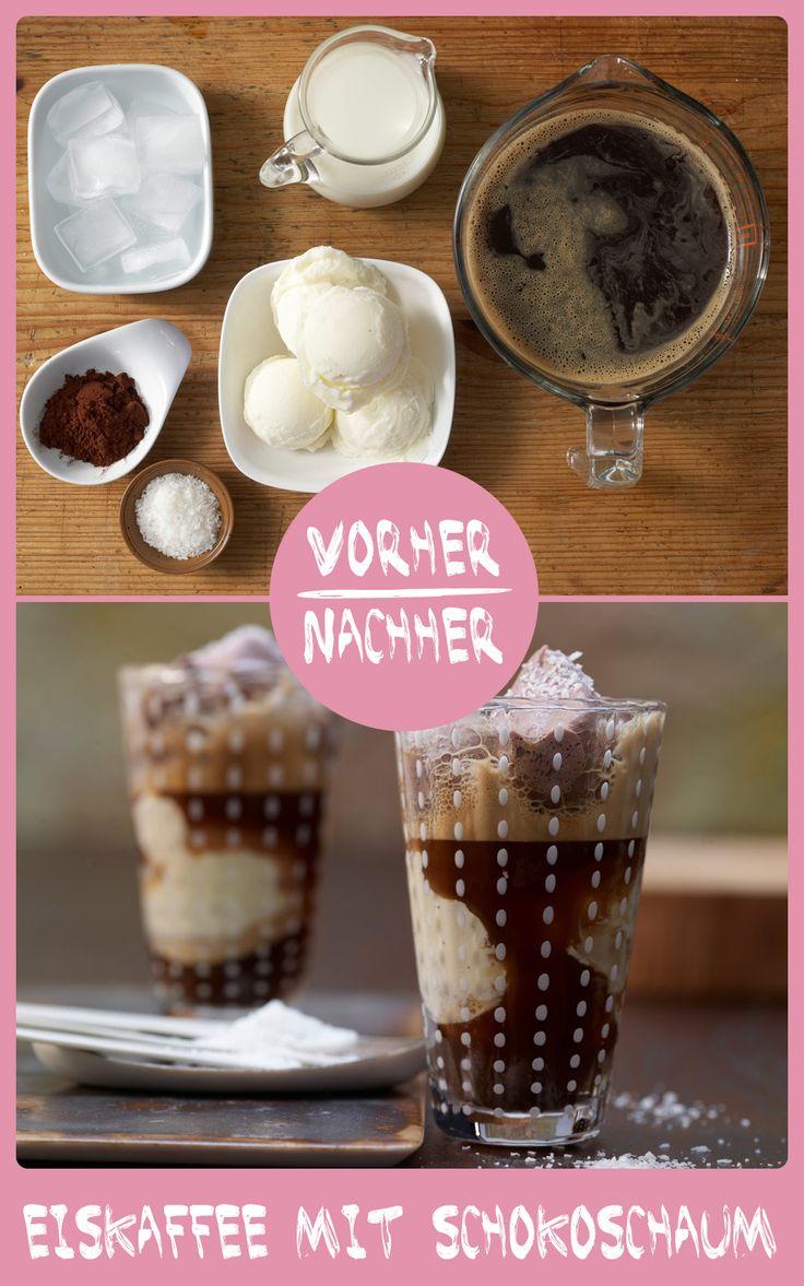 http://eatsmarter.de/rezepte/eiskaffee-schokoschaum Genau das richtige bei heißen Temperaturen: Eiskaffee