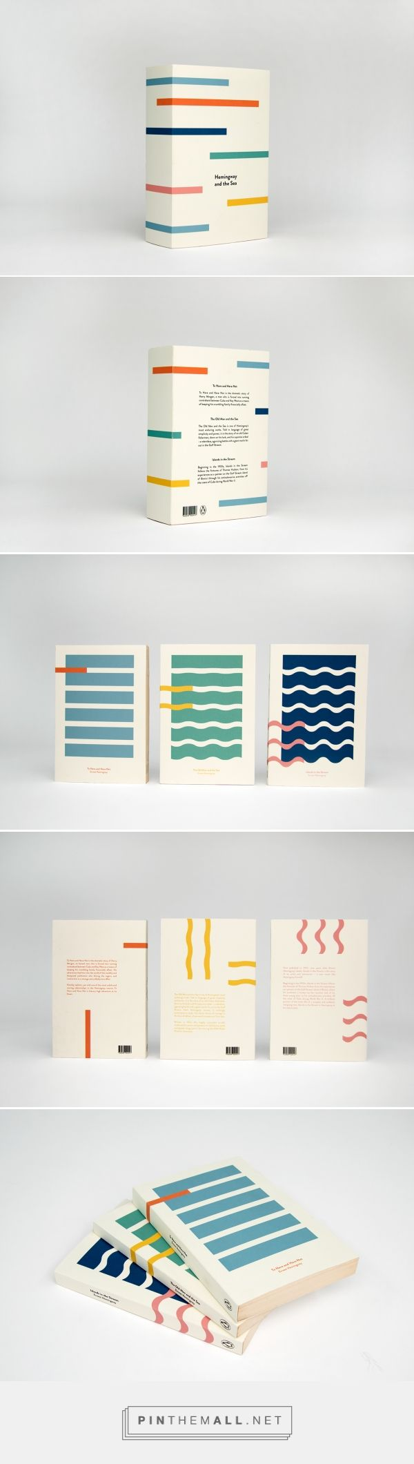 Hemingway and the Sea on Behance by Kajsa Klaesén curated by Packaging Diva PD. Collectors box packaging and covers for three novels by Ernest Hemingway.
