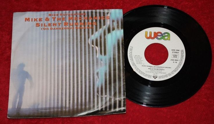 """MIKE & THE MECHANICS - Silent Running - Vinyl 7"""" Single - Wea - Mike Rutherford"""