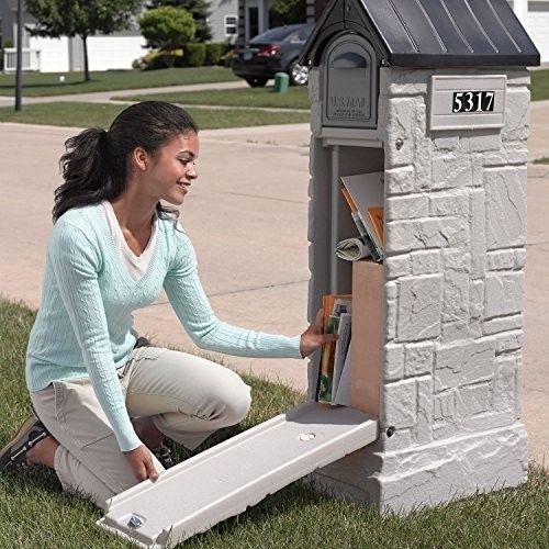 Mailbox Post Locking Letter Safe Box Tower Large Package Storage Plastic Modern #UniqueMailboxes