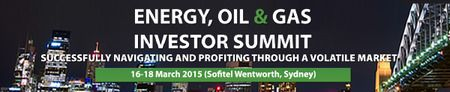 Energy, Oil & Gas Investor Summit Australia. EOG Sydney brings together Australia and Asia's leading energy investors and small and midcap energy companies looking for investment. We are celebrating the 10th anniversay for this event. Prices: $2295-$2495. Category: Conferences. Date and Time: On Monday March 16, 2015 at 9:00 am and ends Wednesday March 18, 2015 at 6:00 pm. Venue: Sofitel Sydney Wentworth, 61-101 Phillip Street, Sydney, NSW 2000, Australia