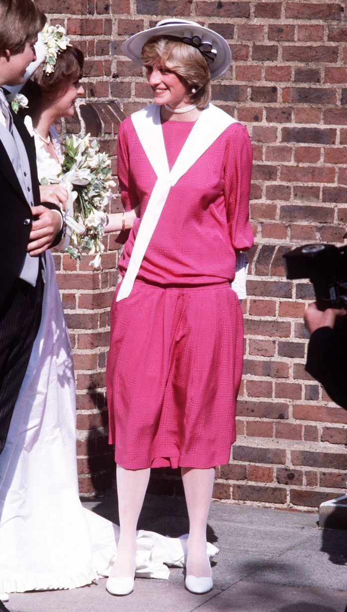 Diana attends wedding of friend, Carolyn Pride.