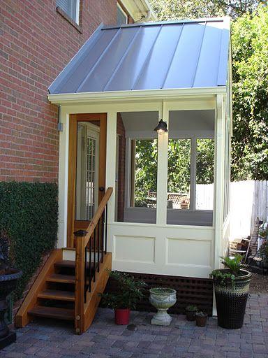 Screen porch and custom screen door