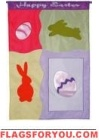 Happy Easter Icons House Flag - 1 left