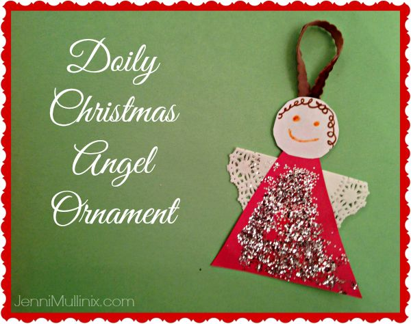 christmas craft for kids: doily angel ornament