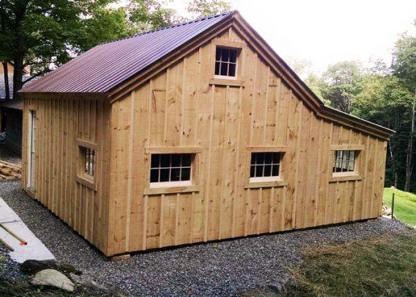 One Bay Garage | Cabin | Shed plans, Garage design, Garage kits