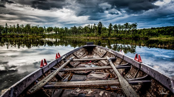 Old Boat by Kasper M. de Thurah on 500px #boat #retro #peaceful #peace #lake #landscape #beautiful #dramatic