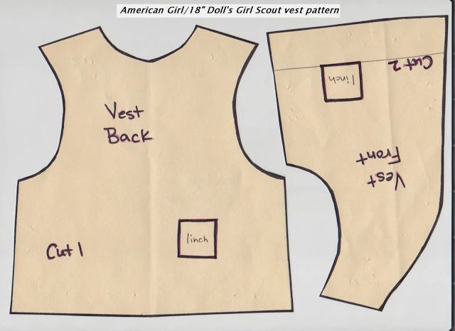 Girl Scout Daisy Vest Pattern for American Girl Doll | Little Speckled Frog - crafting lots of hoppiness!