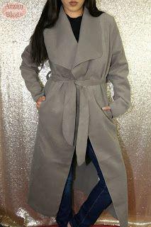 Boohoo Kate Belted Shawl Collar Coat - One Size Mocha http://arzan11fashion.blogspot.ca/2017/01/winter-boohoo-try-on-haul-2017.html