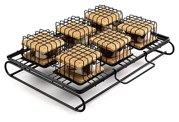 Cuisinart S'mores Grill via One Kings Lane - Gather Around the Fire - S'more To Love Could anything be more brilliant? I wonder what else could be stacked and grilled in those little baskets...hmmm...