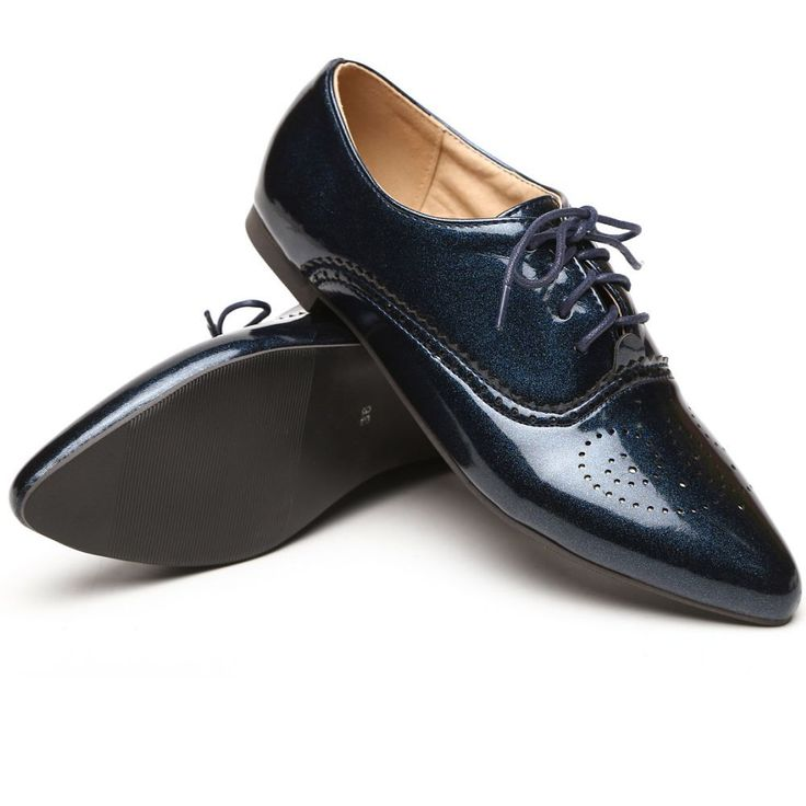 2015 Brand New Fashion Women Glossy Oxfords Black Blue White Female  Brogue Shoes Low Heels ASP51-5 Plus Big Size 32 43 10 alishoppbrasil