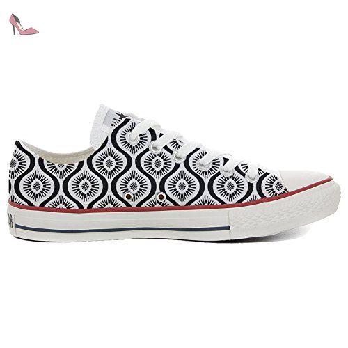 Converse All Star Hi chaussures Personnalisé et imprimés UNISEX (produit artisanal) Wave Paisley size 35 EU - Chaussures mys (*Partner-Link)