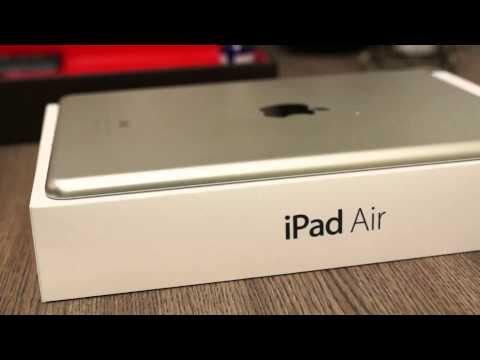 iPad Air White Cellular 4G Unboxing and Hands On - iGyaan - YouTube