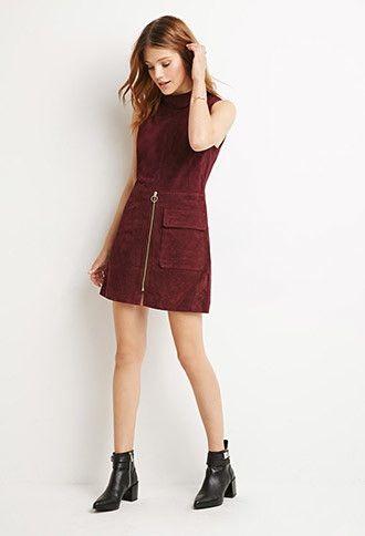 Genuine Suede Sheath Dress | Forever 21 Contemporary - 2000154726