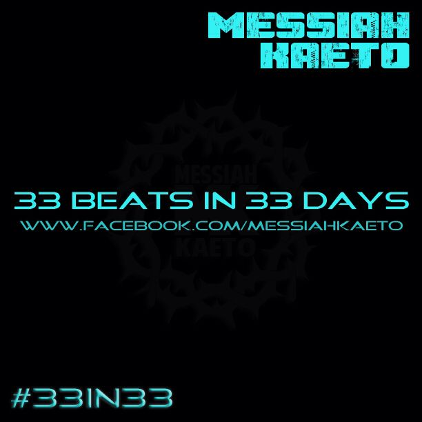 http://messiahkaeto.bandcamp.com/ I made 33 #Beats in 33 days which are now available for #free #download from #bandcamp! #33in33 #Rappers #Rap #HipHop #Beatmaking #Beatmaker #BrandMK