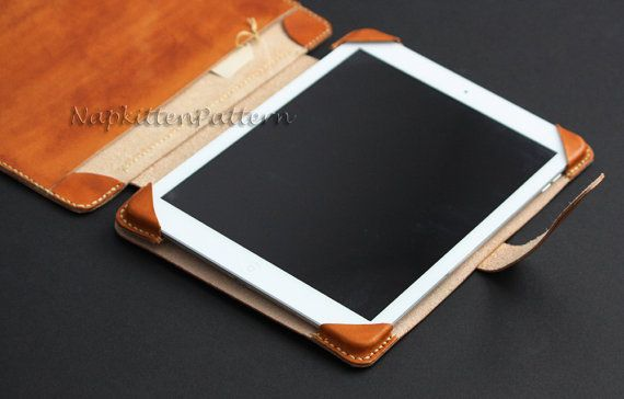 Leather IPad case pattern For IPad 4 IPad Air by NapkittenPattern