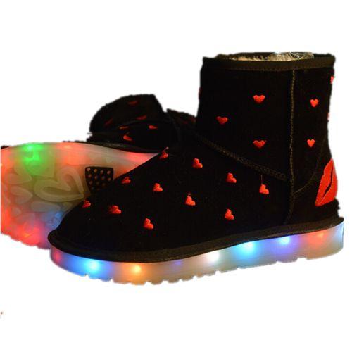 Schwarz Schnee Schuhe Mit LED