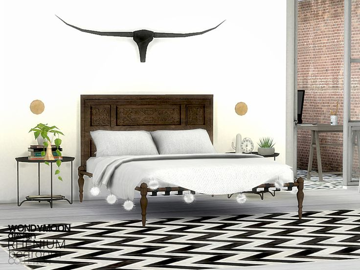 - Rhenium Bedroom  Found in TSR Category 'Sims 4 Adult Bedroom Sets'