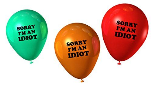I'm An Idiot Balloons I'm Sorry Apology Gifts https://buzz.jifiti.com/gifts-for/im-sorry/ #Gifts #Gift #Sorry
