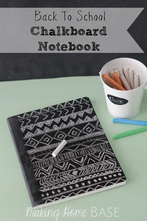Chalkboard Notebook for Back To School Tutorial