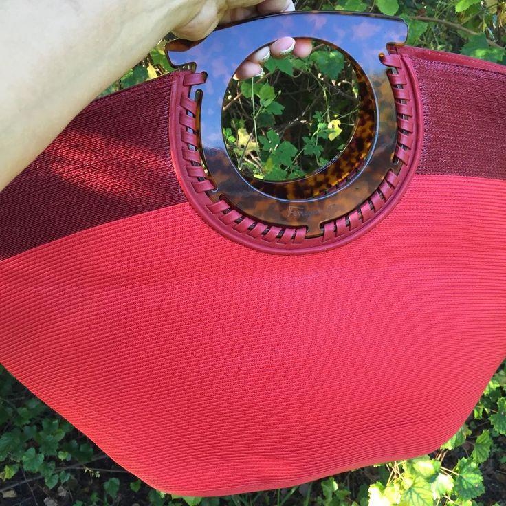 Red Salvatore Ferragamo Tote Exquisite Design #SalvatoreFerragamo #TotesShoppers