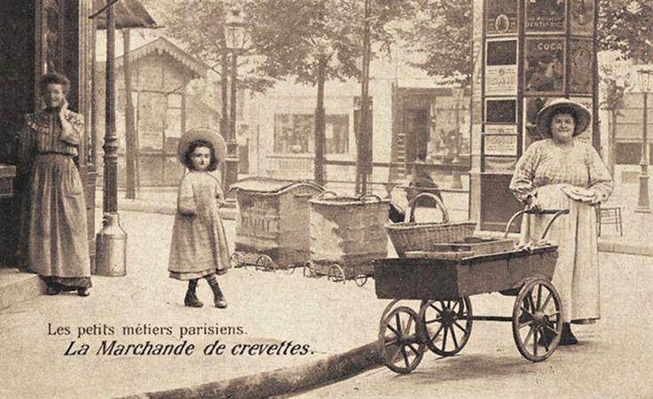 La marchande de crevettes, Paris, 1900's.