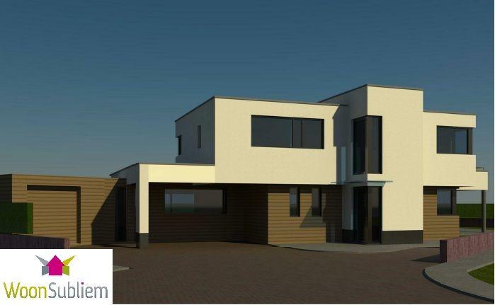 mooi modern huis aan het water en aan de rand van de natuur