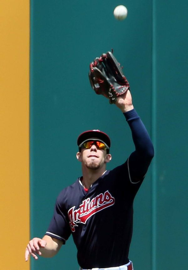 Cleveland Indians Bradley Zimmer, during the game against the Minnesota Twins at Progressive Field, Cleveland, Ohio, on June 25, 2017. (Chuck Crow/The Plain Dealer).