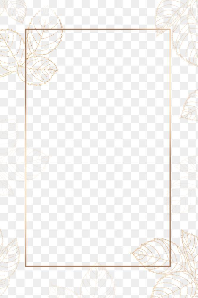Leafy Golden Rectangle Frame Design Element Free Image By Rawpixel Com Adj Frame Design Floral Border Design Floral Logo Design