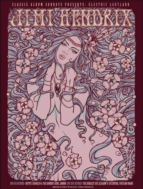 Jimi Hendrix Electric Ladyland Godmachine Poster Release Details