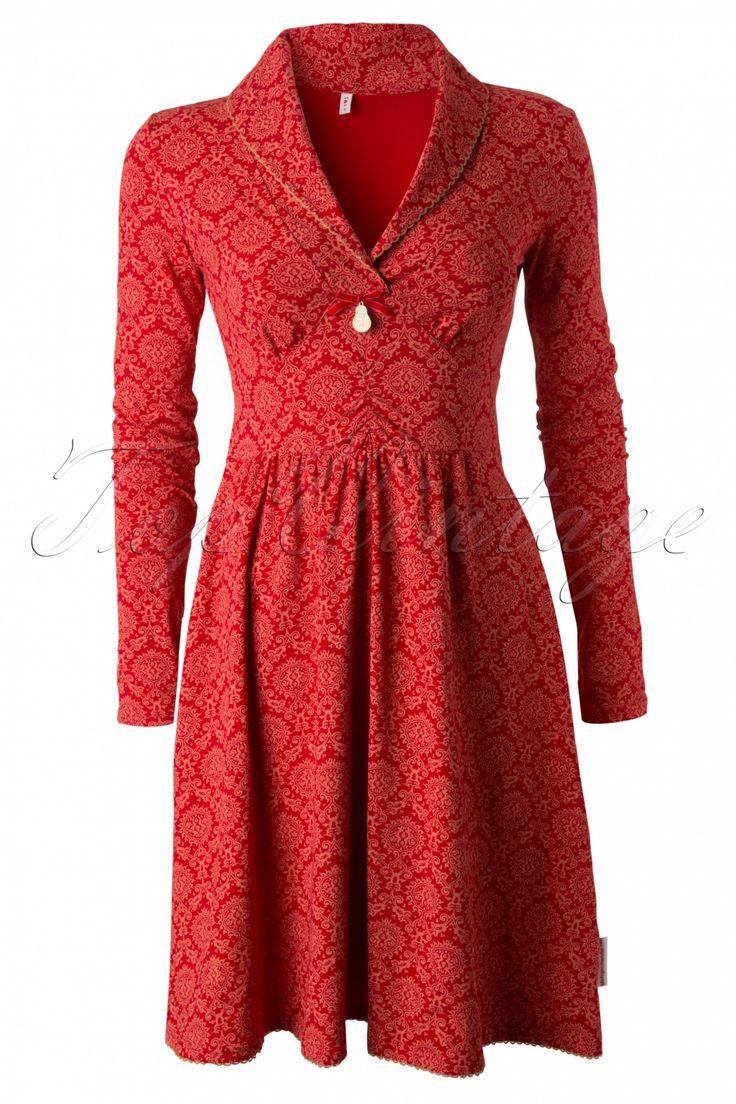 Blutsgeschwister - 60s Inupiat Red Ornaments Dress