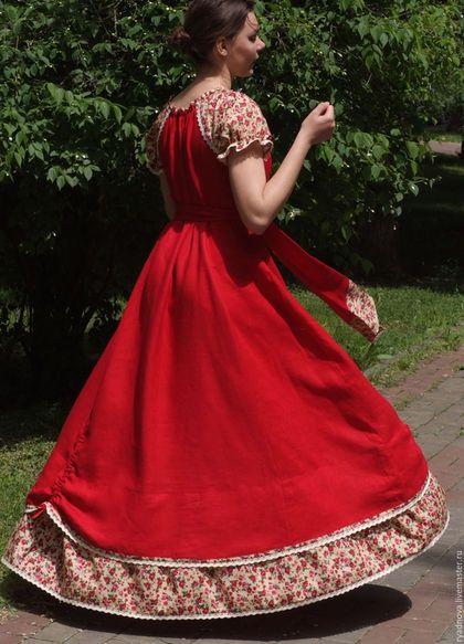 Купить или заказать платье Аленький Цветочек в интернет-магазине на Ярмарке Мастеров. Платье 'Аленький цветочек'По другому и не назовешь это яркое летнее чудо, такое живое и обворожительное! В этом платье можно чувствовать себя Королевой! Юбка в пол закручивает вихрь энергии от земли, наполняя свое Женское...! Оно прекрасно подходит для кормящих мамочек и для женщин в ожидании малыша! Ручная работа, пошив по индивидуальным меркам. Состав: 100% лен, отделка 100% дизайнерский хлопок, 10...